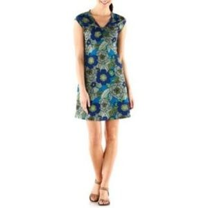 REI Northway dress womens sea lily floral size S